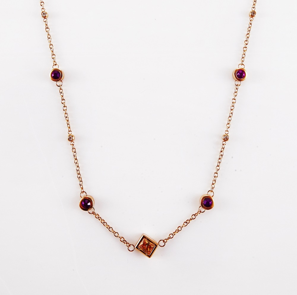 Bejeweled Long Necklace (With Magnet)